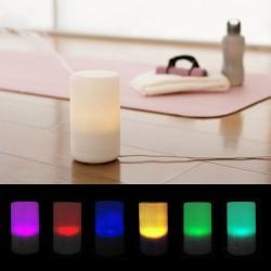 Huidificador con luz y aromaterapía